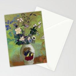 """Odilon Redon """"Vase Au Guerrier Japonais"""" Stationery Cards"""