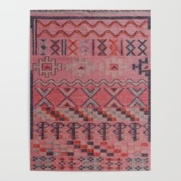 V21 New Traditional Moroccan Design Carpet Mock up. Poster