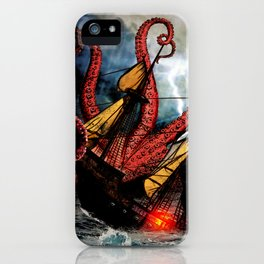In the Grasp of the Storm iPhone Case
