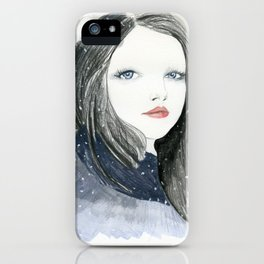 Embracing A Misty Morning iPhone Case