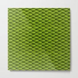 Dragonscale: Green Metal Print