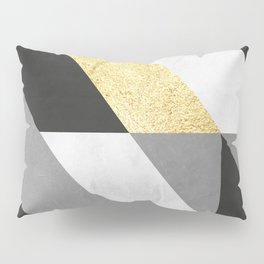 Gold collage X Pillow Sham