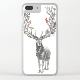 Winter Solstice Caribou Clear iPhone Case