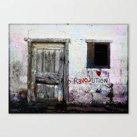 revolution Canvas Prints featuring rEVOLution by Bärdie D/Sign