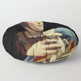 THE LADY WITH AN ERMINE - DA VINCI Floor Pillow