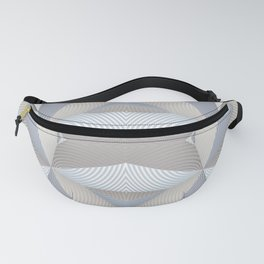 Origami - White Fanny Pack