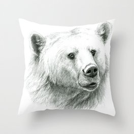 Sentimental bear Throw Pillow