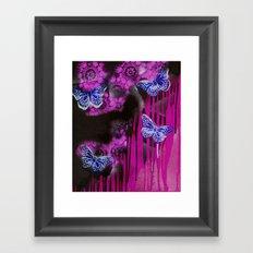 Life flies Magenta Framed Art Print