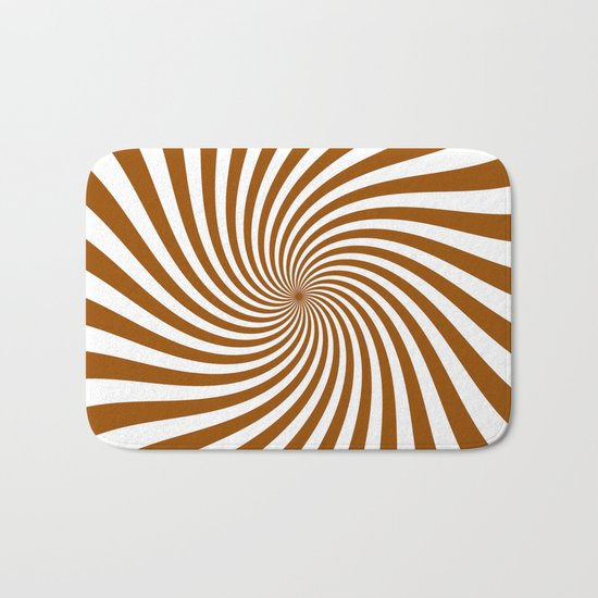Swirl (Brown/White) Bath Mat