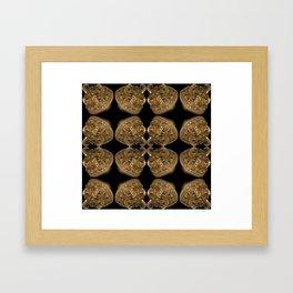 Fractal Art - Golden Pyramid Framed Art Print