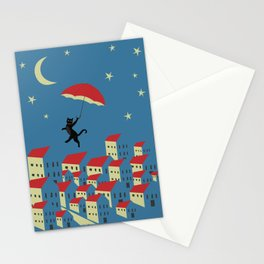 Upton The Cat And His Evening Adventures Stationery Cards