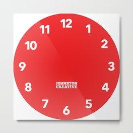 Johnston Creative Wall Clock Metal Print