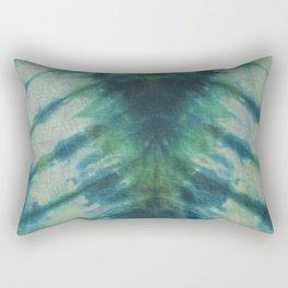 Tie Dye Blue Green 9 Rectangular Pillow