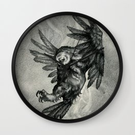 The Owl and the Witch Wall Clock