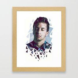 Tyler Joseph Low Poly Portrait Framed Art Print