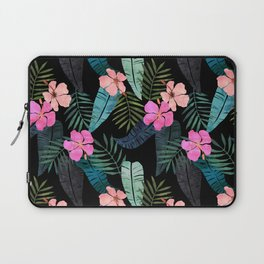Island Goddess Tropical Black Laptop Sleeve