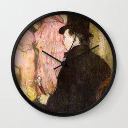 "Henri de Toulouse-Lautrec ""Maxime Dethomas At the Ball of the Opera"" Wall Clock"