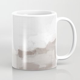 Desert Storm Gray Clouds Beige Sandy Dunes Desolate Abstract Nature Painting Art Print Wall Decor  Coffee Mug