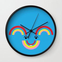 Fun Rainbow Wall Clock