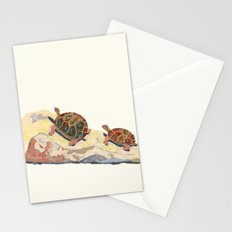 The Tortoise on a Rock Stationery Cards
