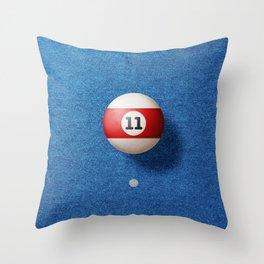 BALLS / Pool Billiard (eleven) Throw Pillow