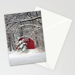 Red Barn in the Snow 2011 Stationery Cards