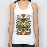 kitty Tank Tops featuring Kitty by 110specialblack