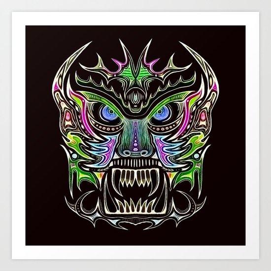 Tribal Mask V Art Print