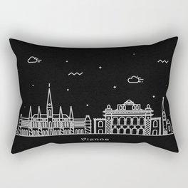 Vienna Minimal Nightscape / Skyline Drawing Rectangular Pillow
