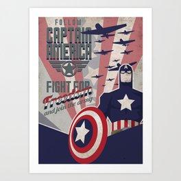 Comics' propaganda Art Print
