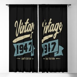 Vintage Since 1947 Birthday Gift Blackout Curtain