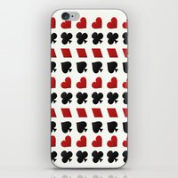 suits iPhone & iPod Skins featuring Card Suits by •ntpl•