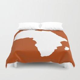 Rust Red Audacious Africa Duvet Cover