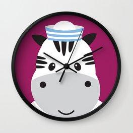 Sailing Zebra Wall Clock