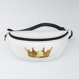 Royal Shining Golden Crown for King or Queen Fanny Pack