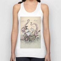 kraken Tank Tops featuring Kraken by Stephanie Dominguez Art Shop