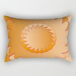 Rounded orange 1 Rectangular Pillow