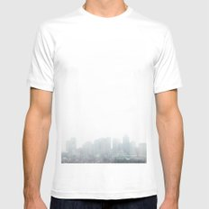 Boston White SMALL Mens Fitted Tee