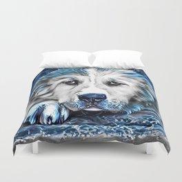 BLUE -Dog Duvet Cover