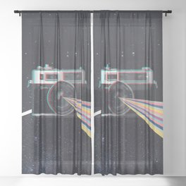 Experience the power of Yashica Electro 35 in space Sheer Curtain