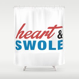 Heart & Swole Shower Curtain
