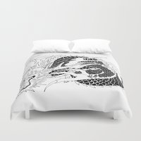 dragon Duvet Covers featuring dragon by kasowy