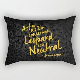 Leopard Print - Dark Rectangular Pillow