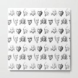 Dexter Portrait Pattern Metal Print