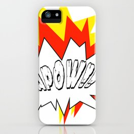 Comic with the write Kapow!! - Vector iPhone Case