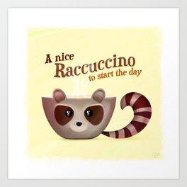 Raccuccino! Art Print
