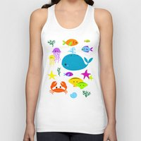under the sea Tank Tops featuring Under The Sea by Reg Silva / Wedgienet.net