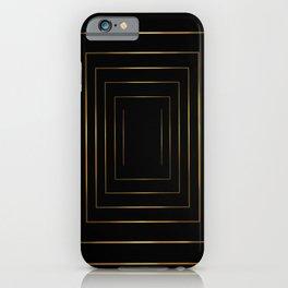 Golden pattern on black iPhone Case