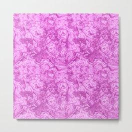 Mighty magenta marble Metal Print