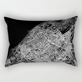 The Hague Black Map Rectangular Pillow